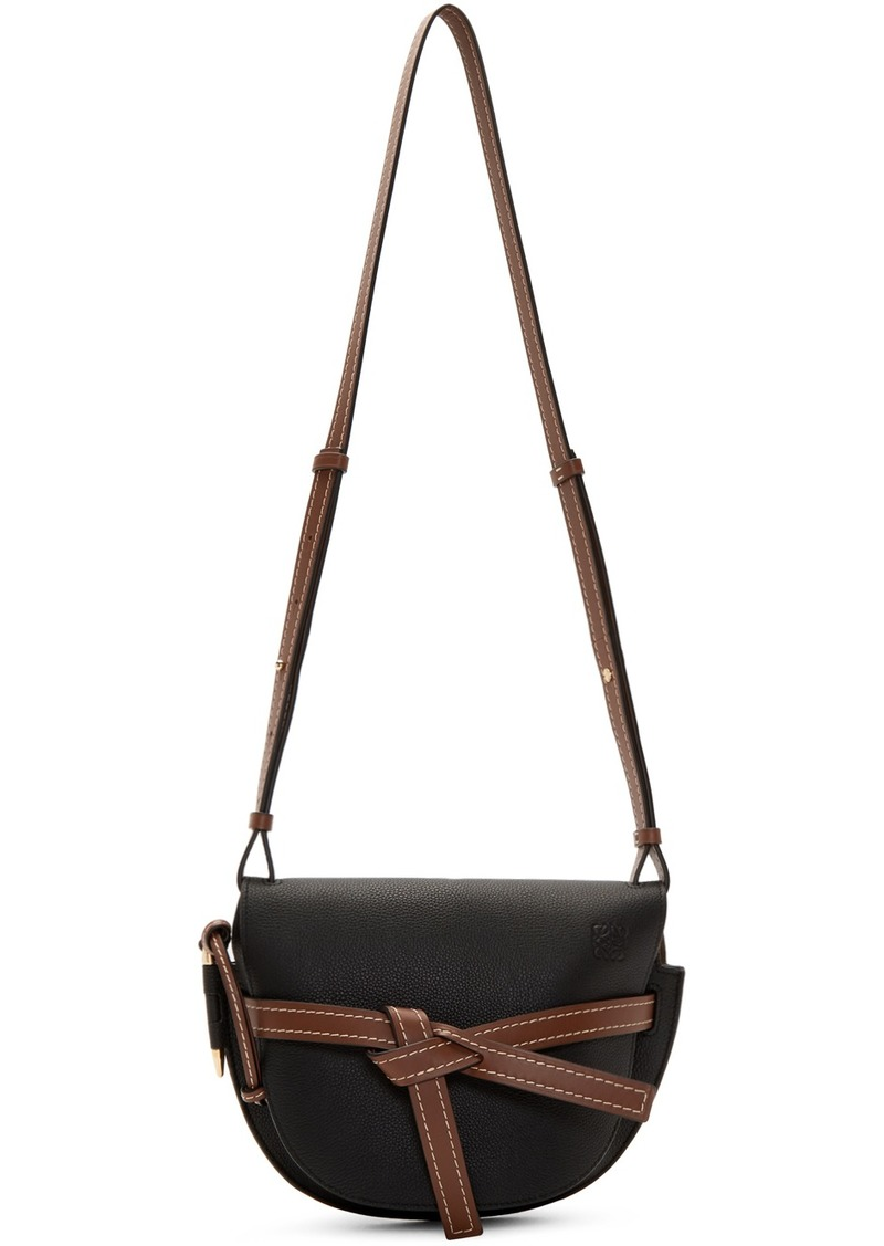 Loewe Black & Brown Small Gate Bag