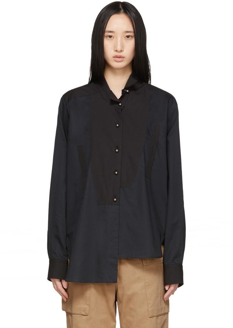 Loewe Black Pearls Asymmetric Shirt