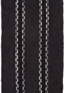 Loewe Black Skinny Mohair Stitches Scarf