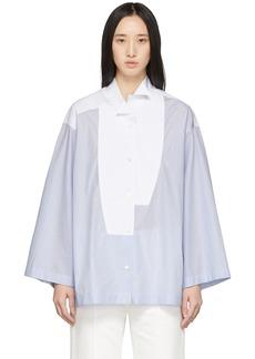Loewe Blue & White Striped Oversized Leaning Shirt