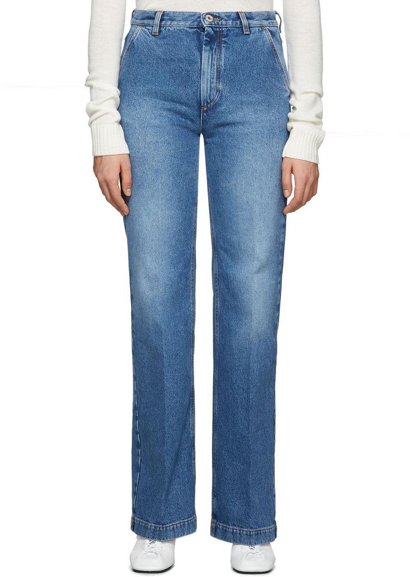 Loewe Blue Flared Stonewashed Jeans