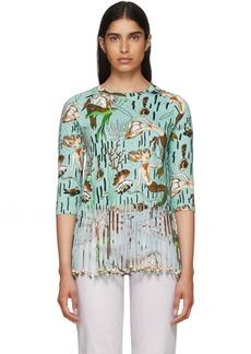 Loewe Blue Paula's Ibiza Edition Mermaid Fringe T-Shirt