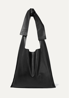 Loewe Bow Oversized Leather Shoulder Bag