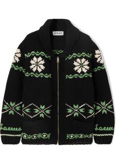 Loewe Cashmere And Wool-blend Jacquard Cardigan
