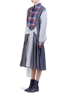 Loewe Check & Stripe Shirt Dres