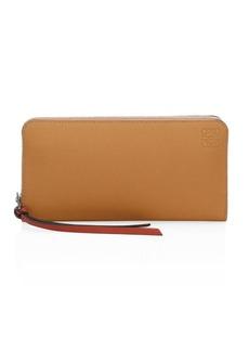 Loewe Colorblock Leather Zip-Around Wallet
