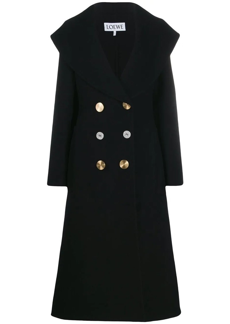 Loewe contrasting buttons double-breasted coat
