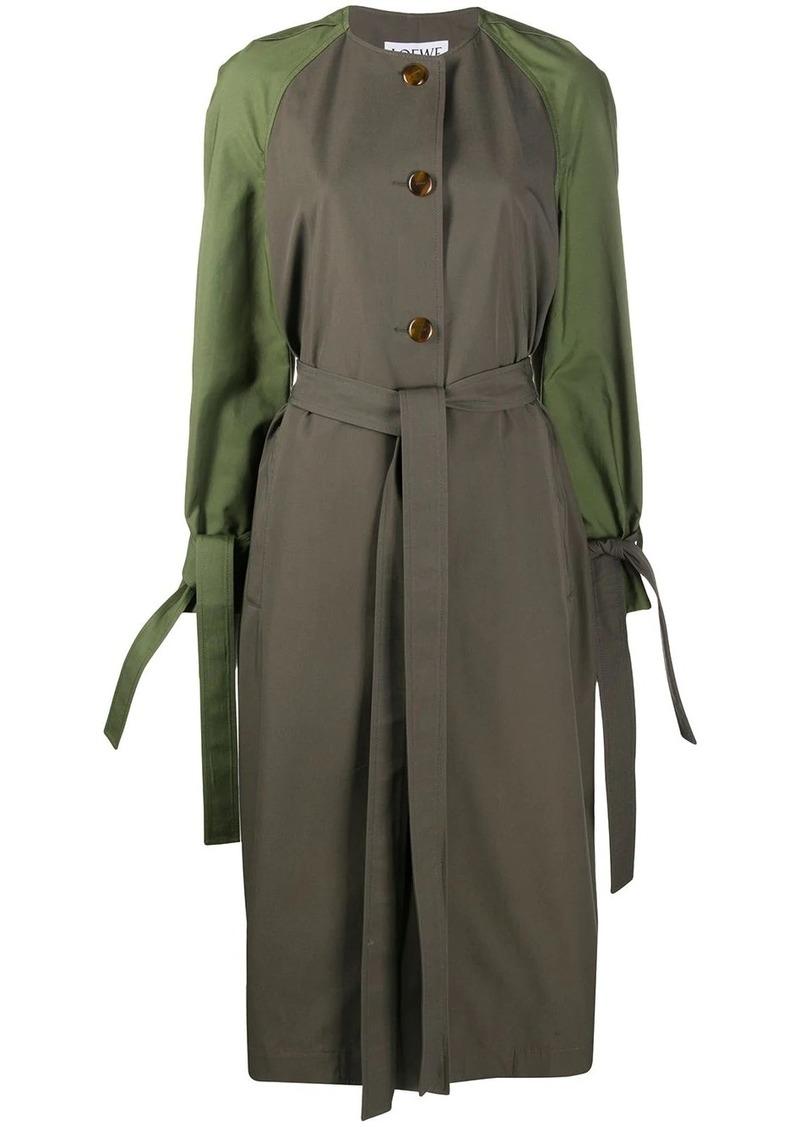 Loewe contrasting raglan sleeve coat