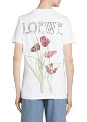 Loewe Cotton Botanical Logo Tee