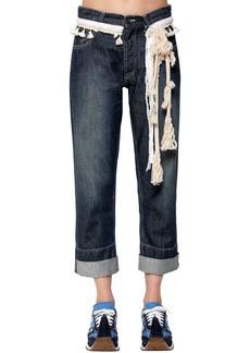 Loewe Cotton Denim Jeans W/ Rope Details