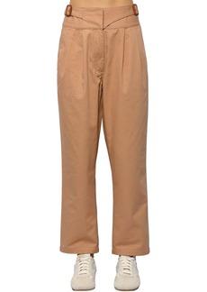 Loewe Cropped Cotton Canvas Chino Pants