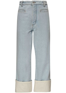 Loewe Cropped Cotton Denim Fisherman Jeans