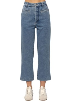Loewe Cropped Fisherman Cotton Denim Jeans