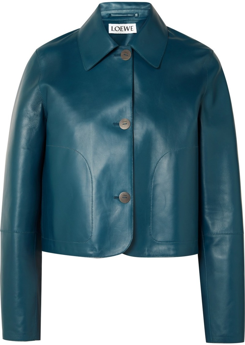 Loewe Cropped Leather Jacket