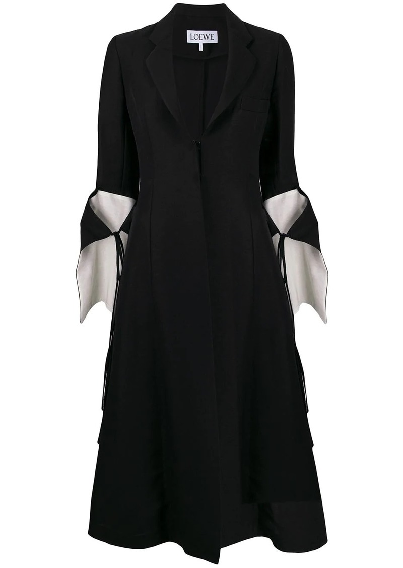 Loewe cut-out tie-sleeve coat