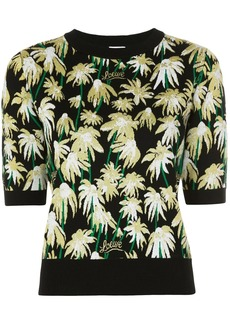 Loewe daisy jacquard knitted top