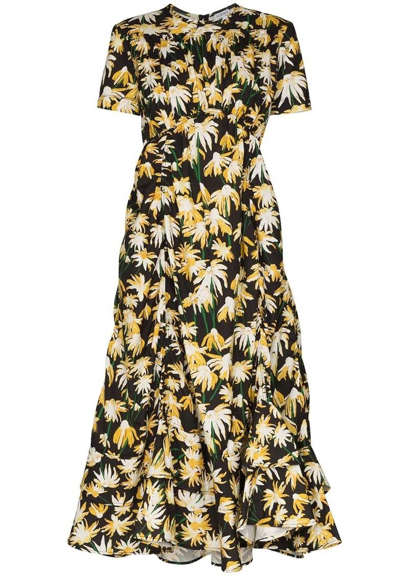Loewe Daisy print midi dress