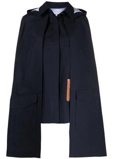 Loewe detachable-cape coat