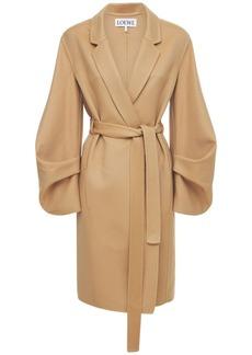 Loewe Double Wool & Cashmere Wrap Coat