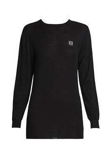 Loewe Embroidered Cashmere Crewneck Sweater