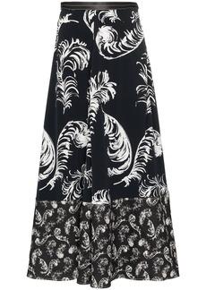 Loewe feather printed maxi-skirt