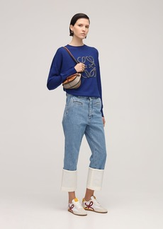 Loewe Fisherman Turnup Cotton Denim Jeans