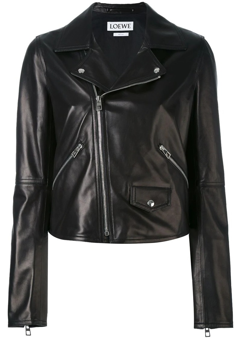 Loewe flap pocket biker jacket