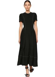 Loewe Flared Light Crepe Midi Dress