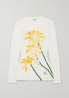 Loewe Floral-print Cotton-jersey Top