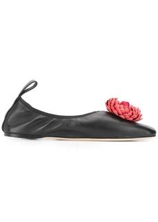 Loewe flower detail ballerina shoes