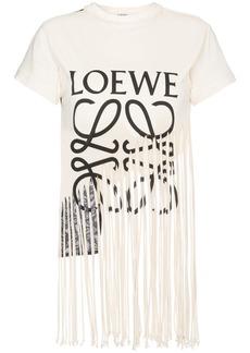 Loewe fringe logo T-shirt