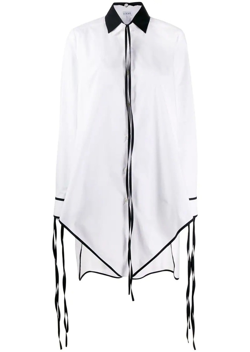 Loewe fringed pointed hem elongated shirt