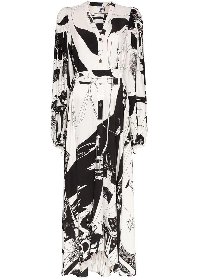 Loewe graphic print shirt dress