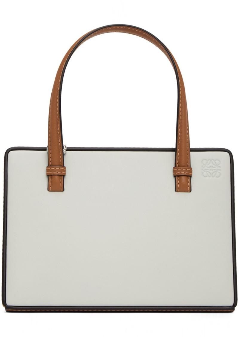 Loewe Grey & Tan Postal Bag
