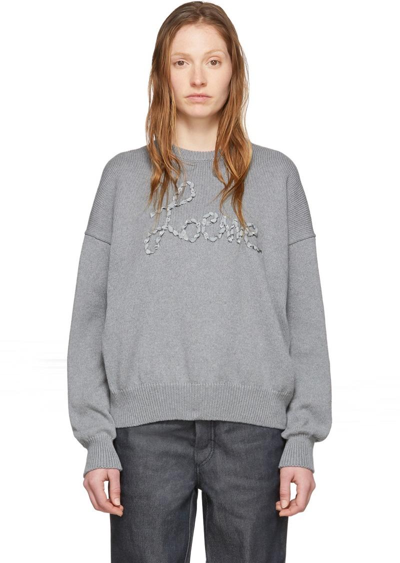 Loewe Grey Stitch Sweater