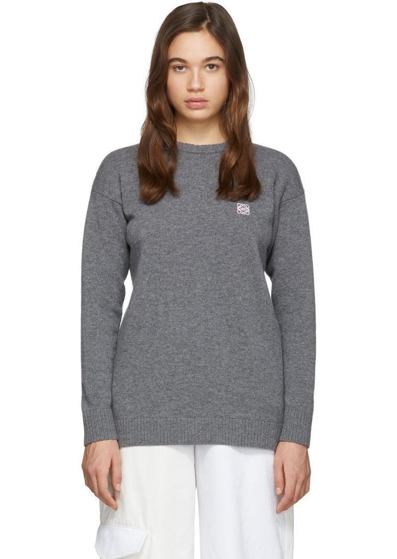 Loewe Grey Wool Anagram Sweater
