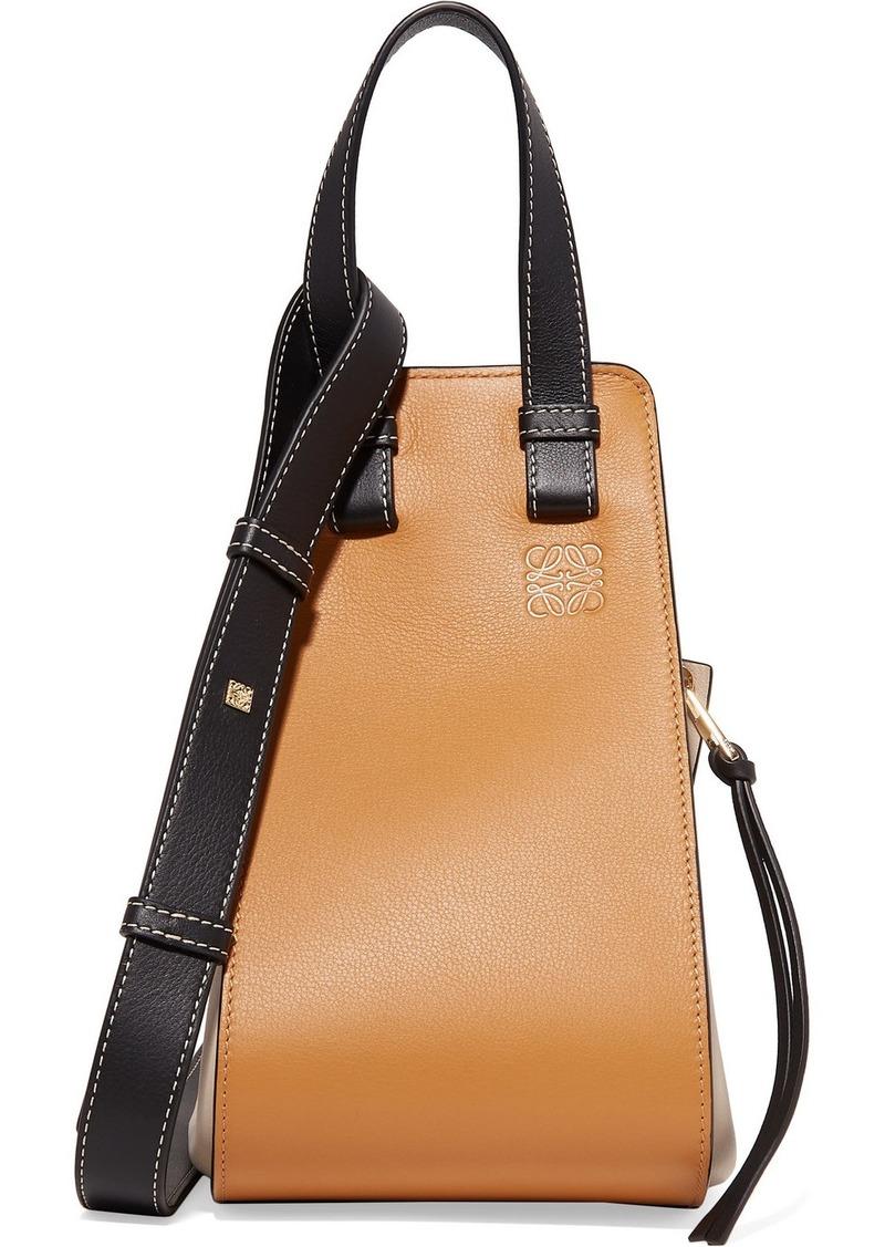 Loewe Hammock Small Color-block Textured-leather Shoulder Bag