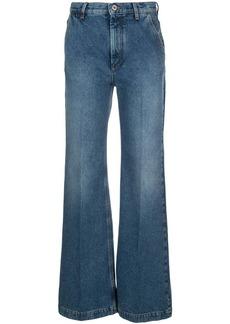 Loewe high rise wide-legged jeans