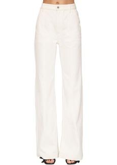 Loewe High Waist Cotton Denim Flared Jeans