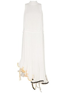 Loewe Jellyfish curled-hem plissé dress