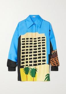 Loewe Ken Price La Series Printed Silk-satin Shirt