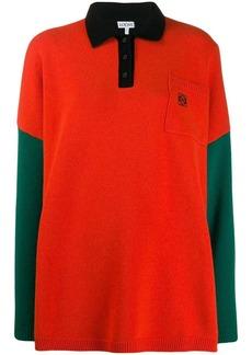 Loewe knitted colourblock polo shirt