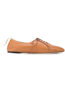 Loewe lace-up ballerina shoes