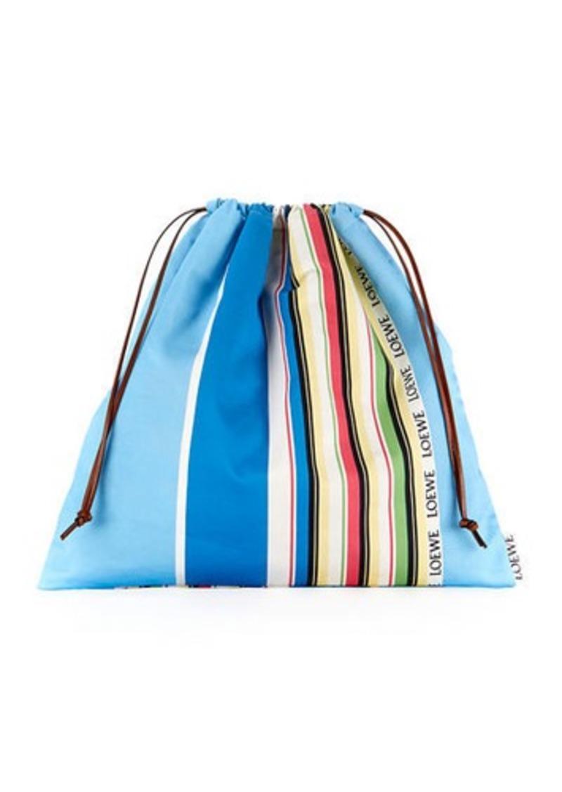 Loewe Large Striped Drawstring Pouch Bag