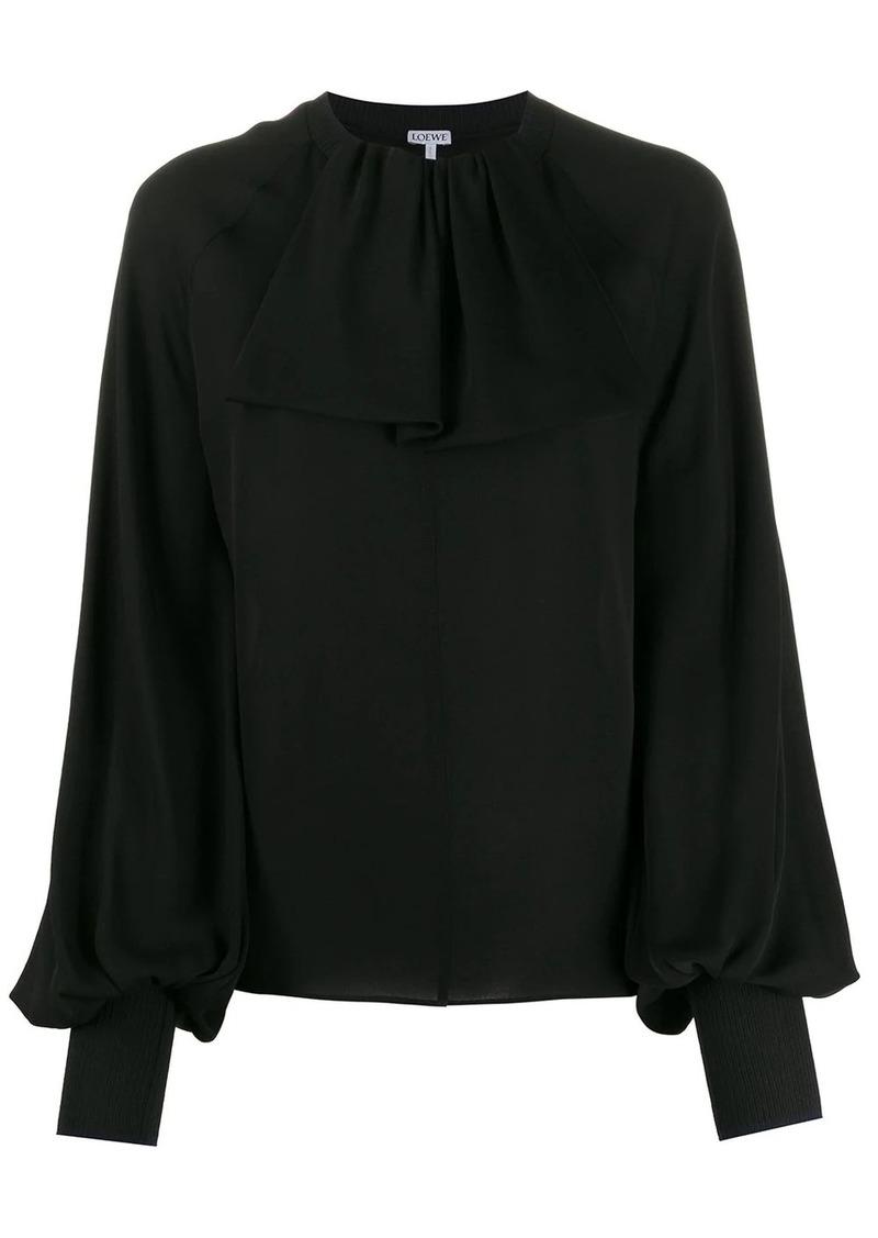 Loewe lavaliere rib collar blouse