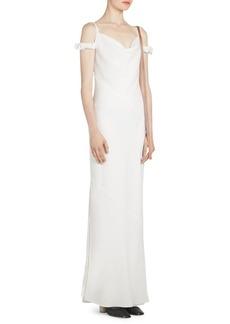 Loewe Leather Strap Cold-Shoulder Dress