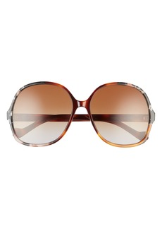 Loewe 61mm Gradient Round Sunglasses