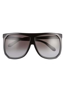 Loewe 63mm Oversize Gradient Flat Top Sunglasses