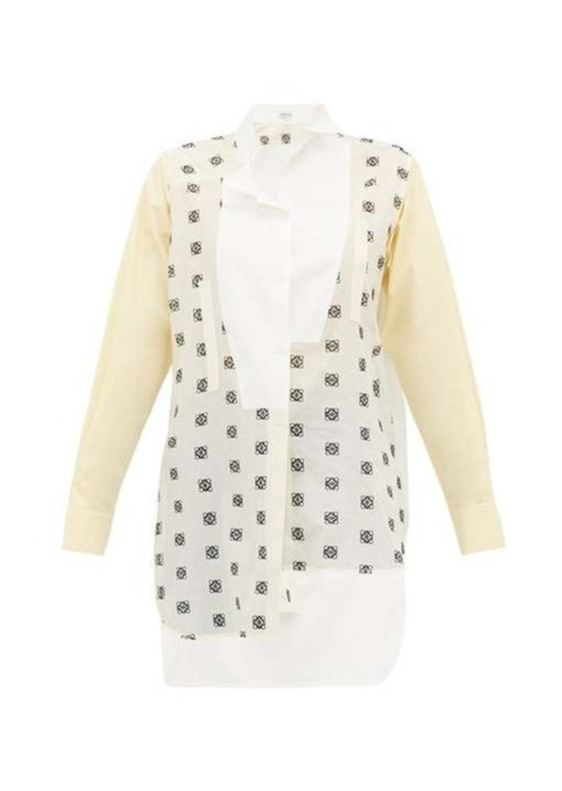 Loewe Anagram broderie-anglaise cotton shirt