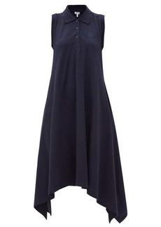 Loewe Anagram-embroidered cotton piqué dress